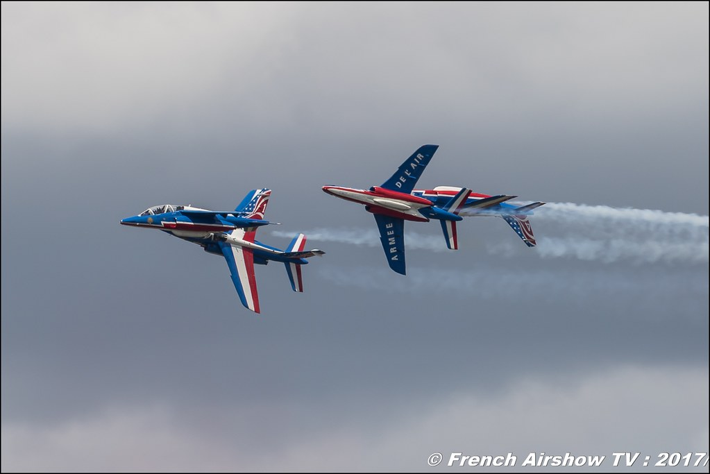 Patrouille de France 2017 , Athos , USA color , Alphajet , Meeting de l'Air BA-106 Bordeaux Merignac , meeting aerien 2017 , Airshow
