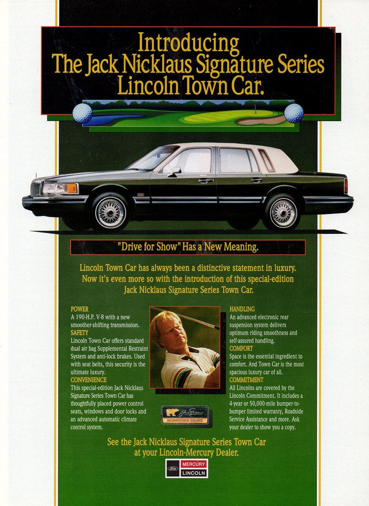 1992 Lincoln Jack Nicklaus Signature Series Town Car Flickr