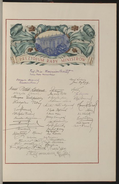 Prezydjum Rady Ministrow (Presidium of the Council of Ministers). From Unexpected Treasures at America's Library: Heartfelt Friendship Between Nations