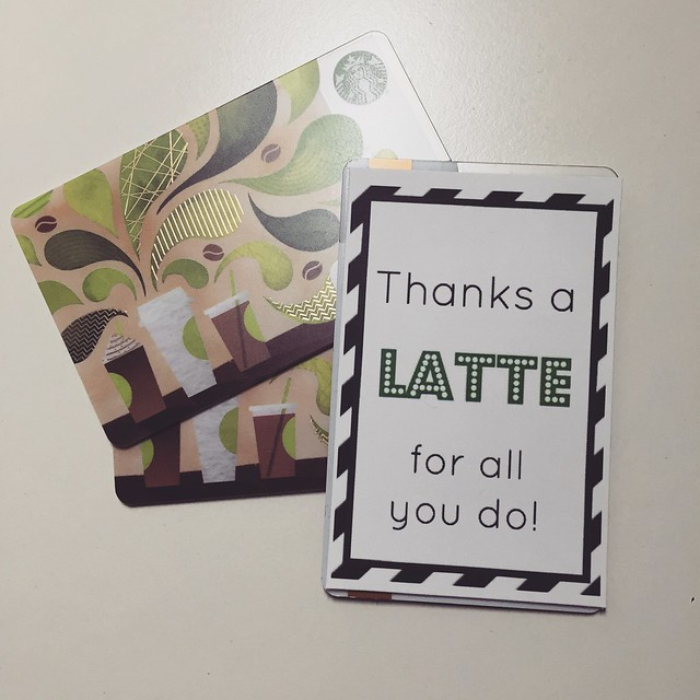 thanks a latte teacher gift diy