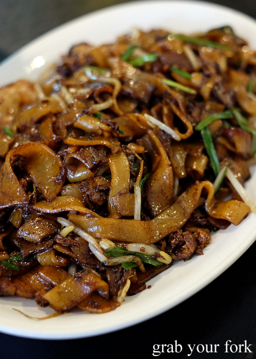 Penang fried kway teow from Penang Cuisine in Epping Sydney