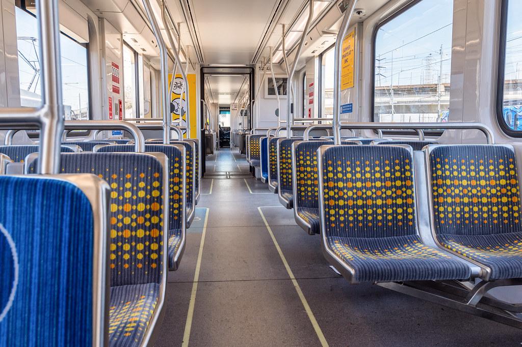 interior of new kinkisharyo p3010 light rail vehicle flickr. Black Bedroom Furniture Sets. Home Design Ideas