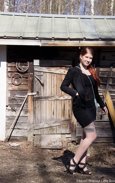 OOTD outfit springlooks kevät muoti 2017 esprit cobblerina pitsitoppi bikbok hame cubus muoti blogi tyyli lifestyle fashion style blog