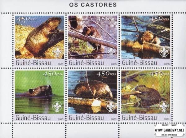 Známky Guinea Bissau 2003 Bobry, nerazítkovaný hárček