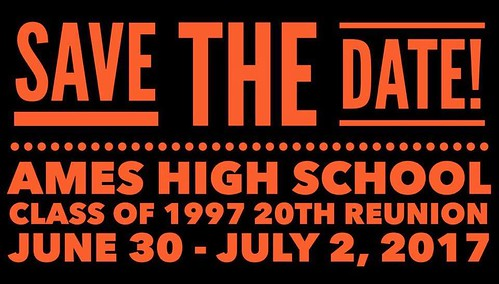 1997 AHS Save the date 20th reunion June 30 to July 2 2017