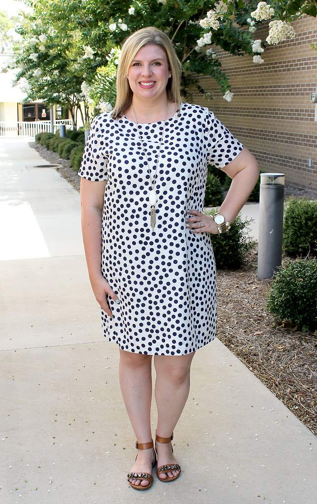 polka dot tee dress 3