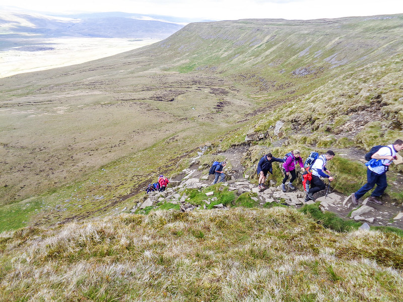 Finishing the steep section - some huffing and puffing going on!