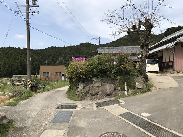 野登山 ミツマタの森ルート 住宅地分岐