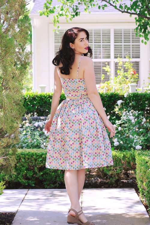 Hearts and Found Grace Dress in Up Up and Away Print