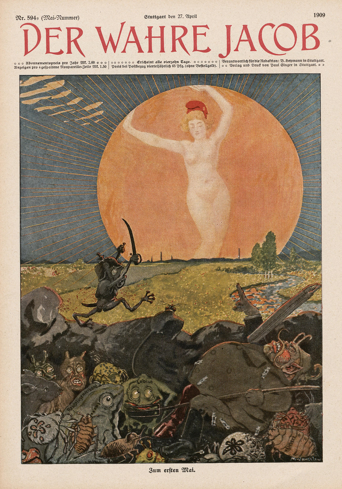 Maximilian Vanselow - First May, 1909
