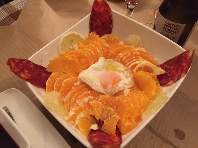 Ensalada de limones y naranja de Las Hurdes (Extremadura)