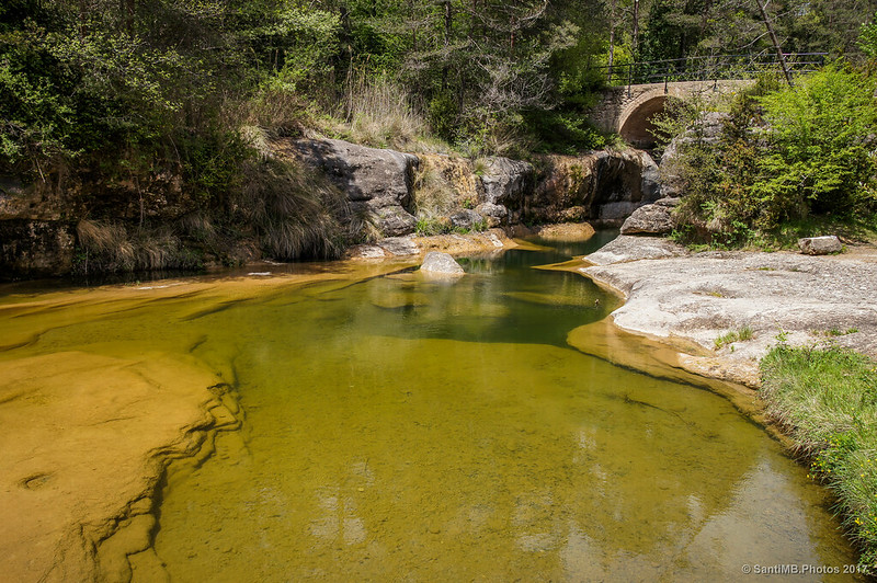 Riera de Merlès y Pont de les Bruixes
