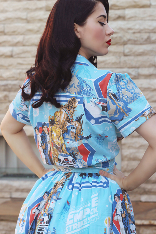 Vintage Inspired by Jackie Atomic Jax Two Piece Set in Star Wars Empire Strikes Back Print