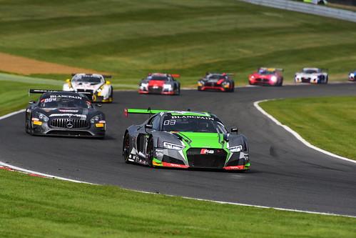 Will Stevens - Markus Winkelhock, Audi R8 LMS, Blancpain GT Series Sprint Cup, Brands Hatch 2017