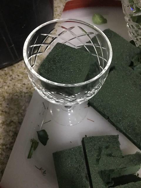 goblet turned flower vase