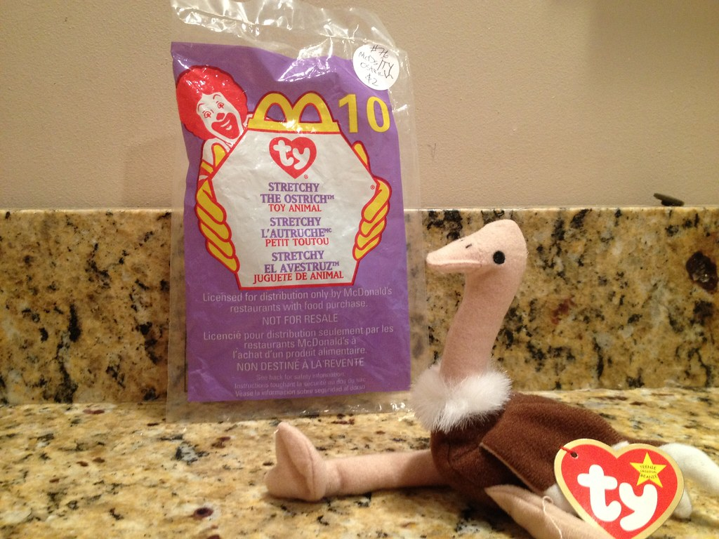 ... 1999 Retro McDonald s Happy Meal - Ty Beanie Babies (TOY 10 - Stretchy  the Ostrich fd51598b8c0c