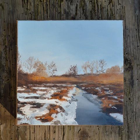 landscape painting by artist Rachel Alvarez