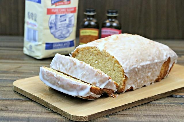 pound cake front slice