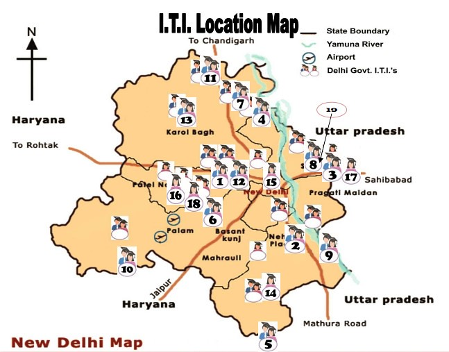 ITI Delhi Location Map