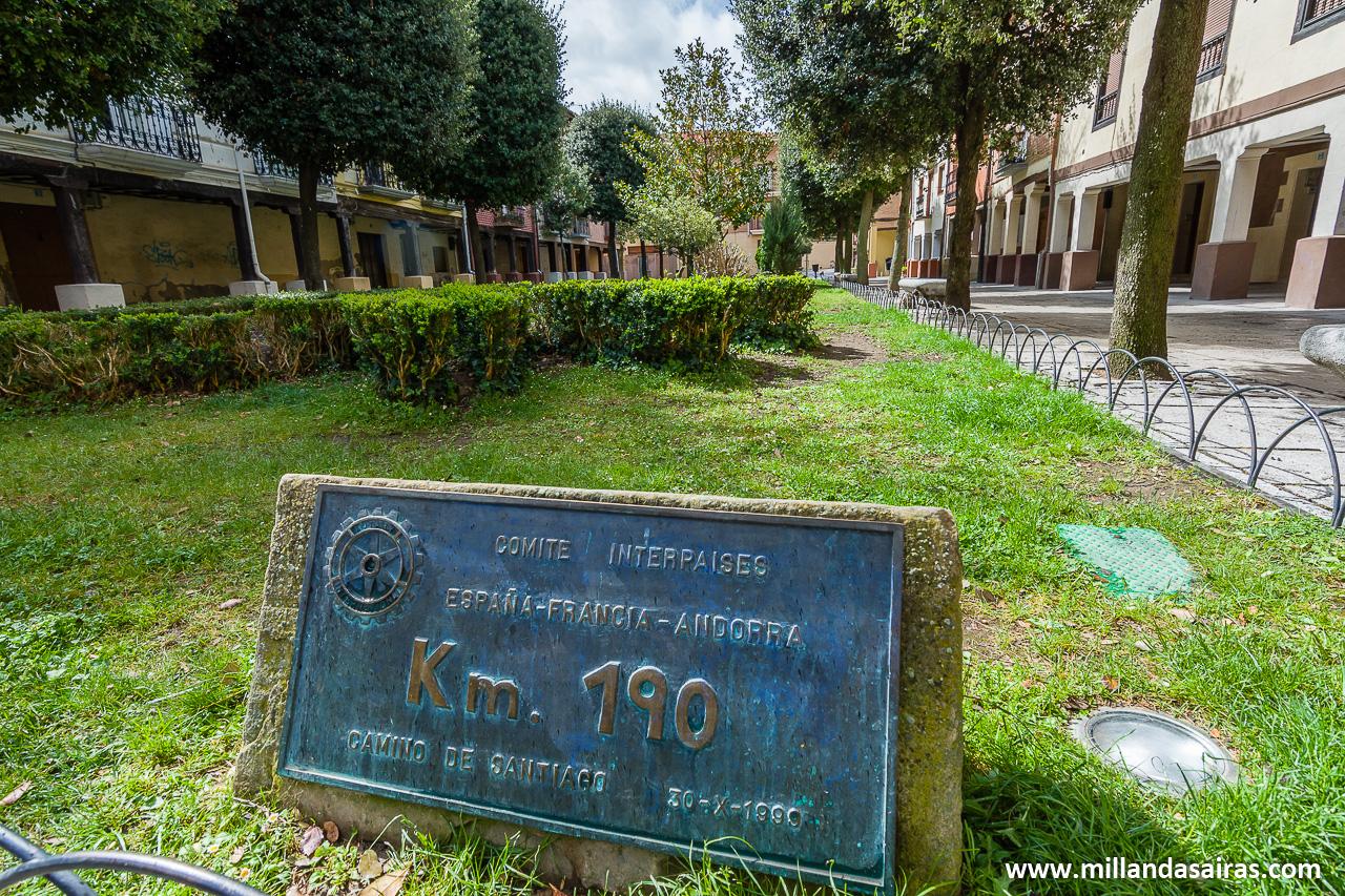 Kilómetro 190 del Camino de Santiago