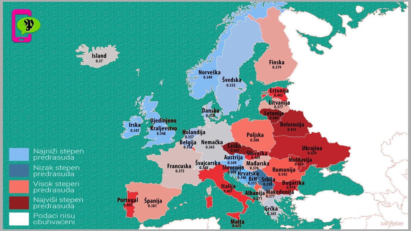 Mapa rasizma u Evropi