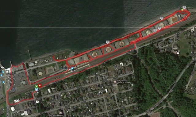 Today's awesome walk, 5.6 miles in 1:56, 12, 527 steps