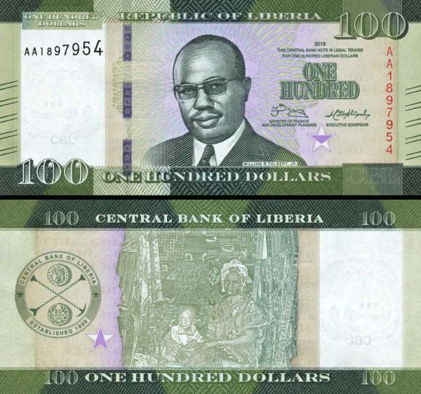 100 Dolárov Libéria 2016, P35