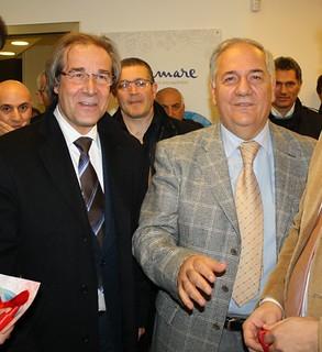 Di Giorgio, Bovino e Eugenio Scagliusi in una nostra foto d'archivio del 2011