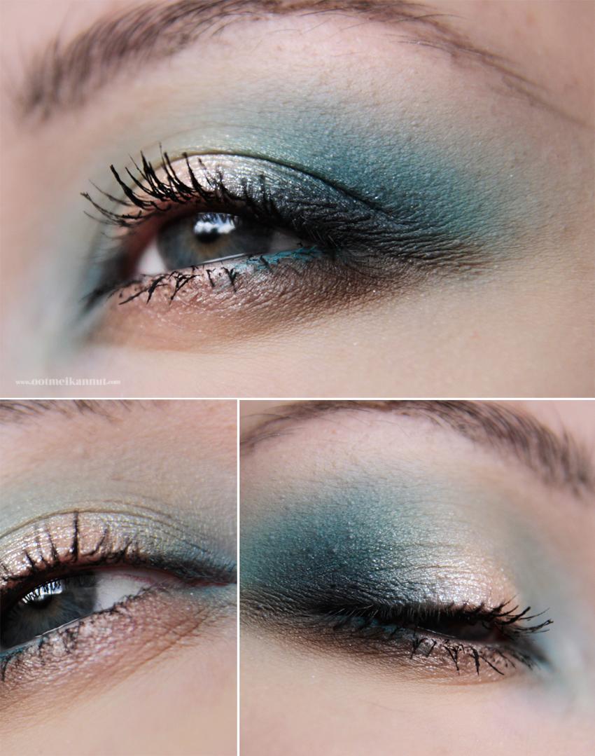 blue halo makeup