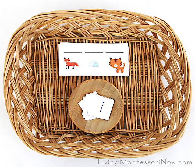 Zoo-Themed Word Building Basket