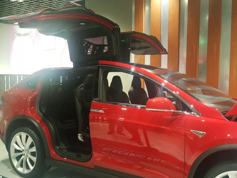 red Tesla X