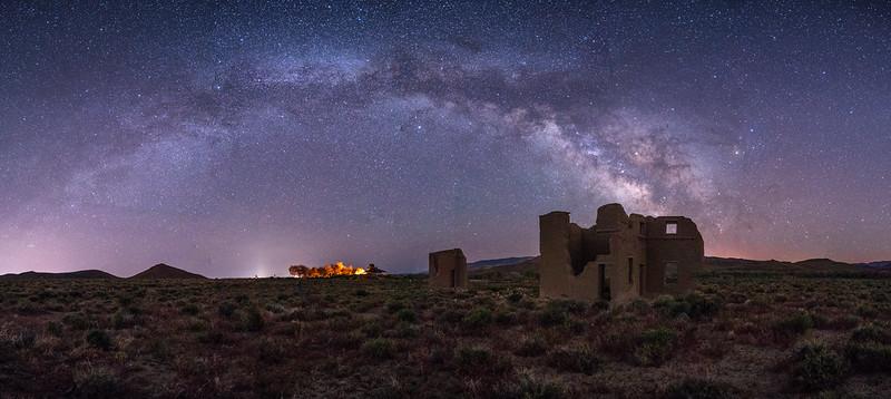 Nighttime in Nevada: Fort Churchill Panorama