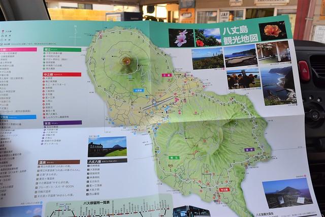 八丈島観光地図