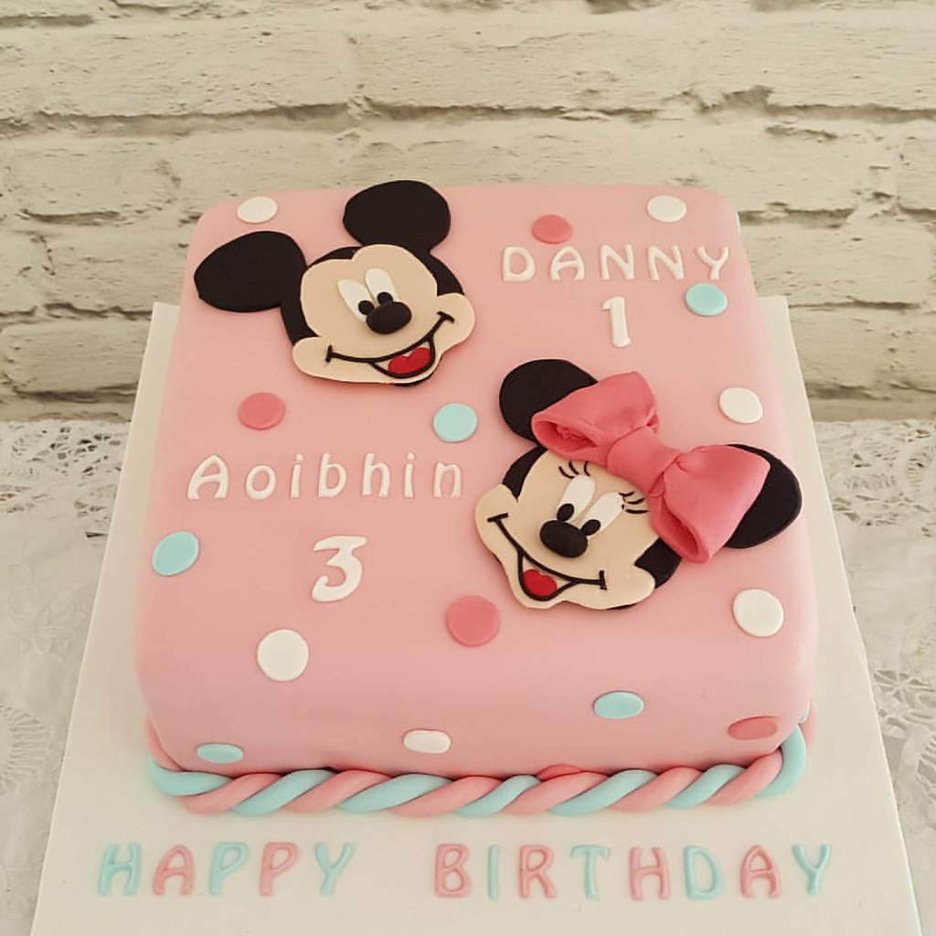 Mickey Minnie Birthday Cake For Brother And Sister Bir Flickr