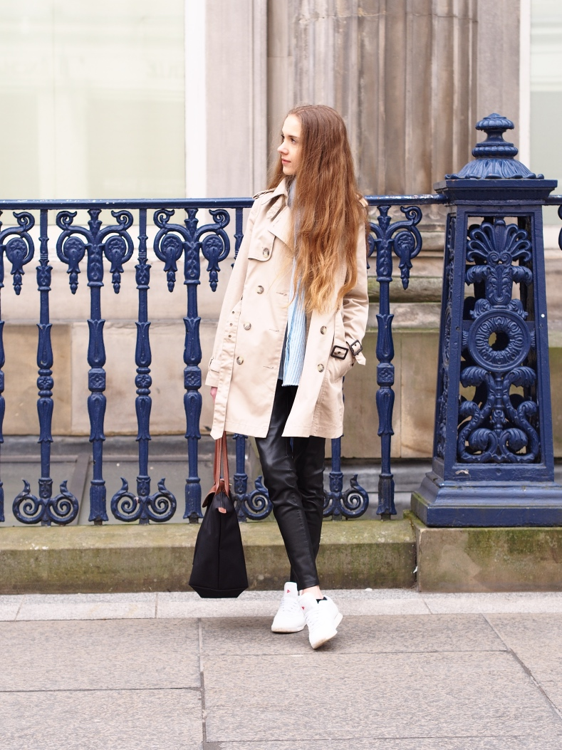Spring outfit with a classic trench coat