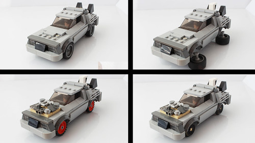 Lego Delorean as a Speed Champions car