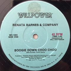 RENATA BARNES & COMPANY:BOOGIE DOWN CHOO CHOO(LABEL SIDE-A)