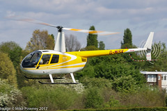 G-MISK - 1998 build Robinson R44 Astro, heading back to the pad after a re-fuel