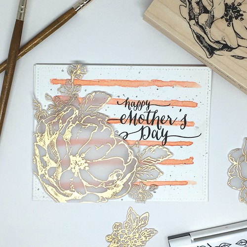 Watercolor stripes Mother's Day cards