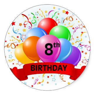 ¡Estoy de aniversario! – Ya son 8 años del blog