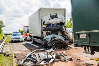 Tödlicher Auffahrunfall A63 Alzey 12.05.17