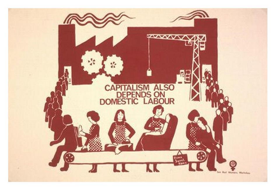 資本主義也須仰賴家務勞動。(圖片來源:endofcapitalism.com)