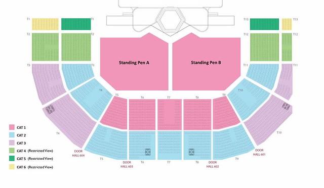 Music Bank World Tour in Singapore Seating Plan