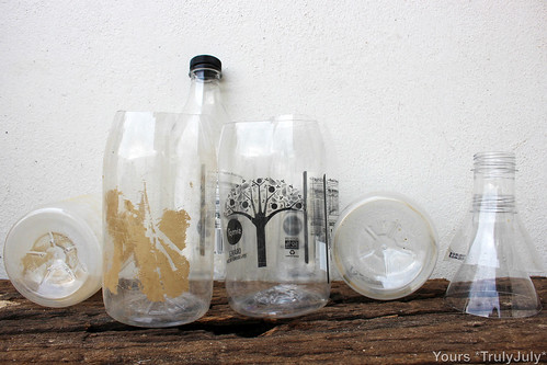Recycling juice bottles | by trulyjuly