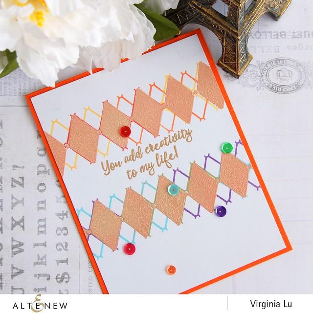 Altenew_Pattern play_Diamond_Virignia Lu