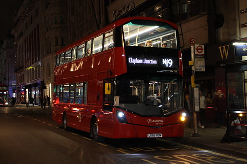 Arriva London HV223 on Route N19, Piccadilly Circus