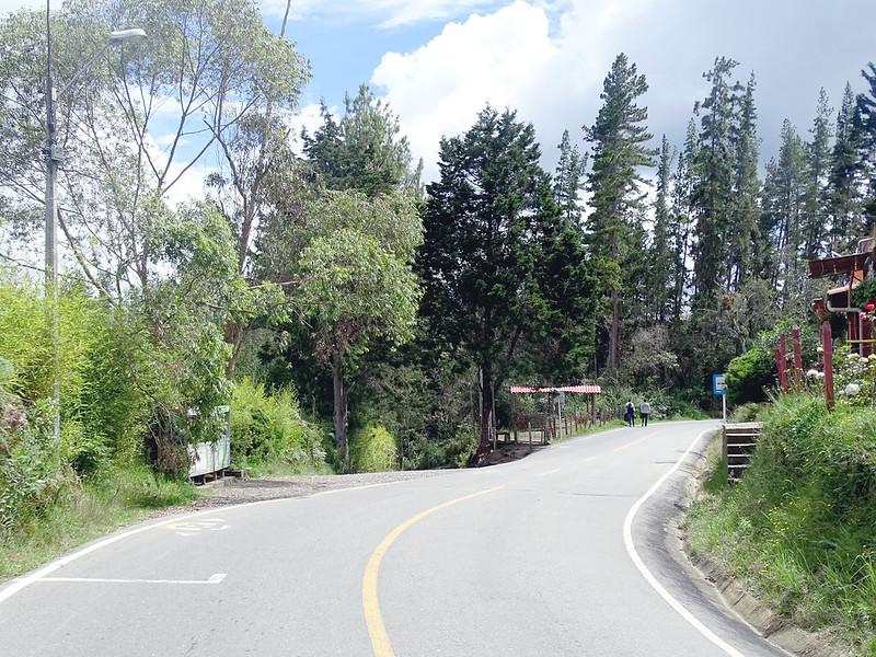 Estrada vazia e natural em Medellín