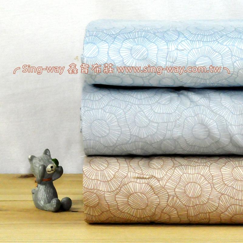 滿滿輪花 典雅花卉 精梳棉床品床單布料 CA490359