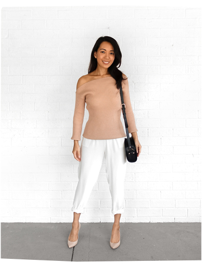 Blush Off Shoulder Knit