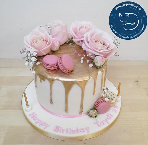 Rose Gold And Pink Th Birthday Cake